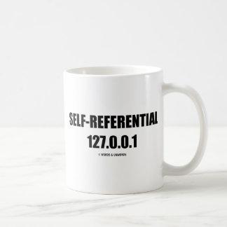 Self-Referential 127.0.0.1 (Computer Humor) Basic White Mug
