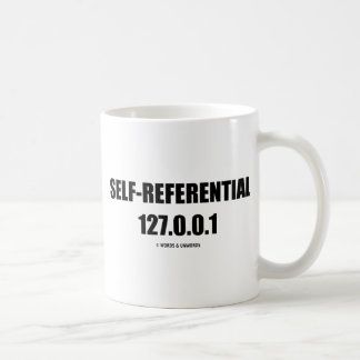 Self-Referential 127.0.0.1 (Computer Humour) Basic White Mug