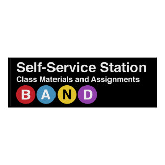 Self-service station classroom poster Subway sign
