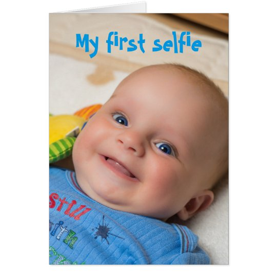 Selfie Baby Boy card