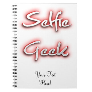 Selfie Geek Red Note Book