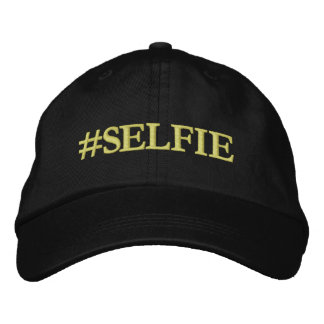 Selfie hat embroidered hat