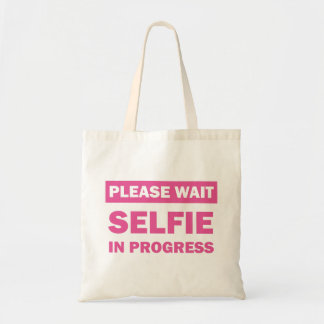 Selfie In Progress Tote Bag