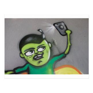 selfie postcard