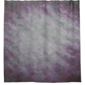 Selfie Shower Curtain, Purple and Gray Painted Shower Curtain