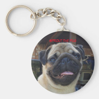 Selfie Smile Basic Round Button Key Ring