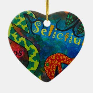 Selictium ipos quexius ceramic heart decoration