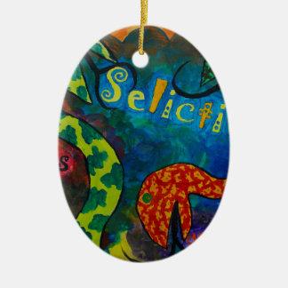 Selictium ipos quexius ceramic oval decoration