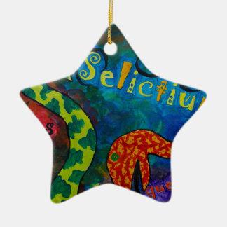 Selictium ipos quexius ceramic star decoration