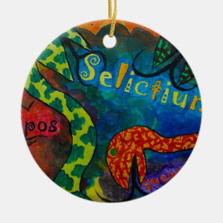 Selictium ipos quexius round ceramic decoration