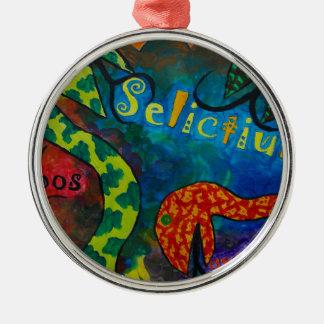 Selictium ipos quexius Silver-Colored round decoration