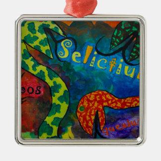 Selictium ipos quexius Silver-Colored square decoration
