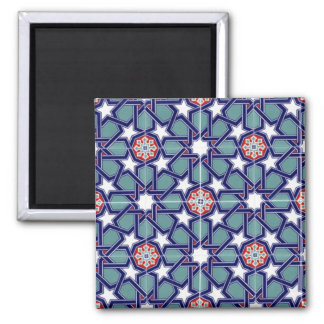 Seljuk Empire Tile Pattern Fridge Magnets