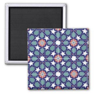 Seljuk Empire Tile Pattern Square Magnet