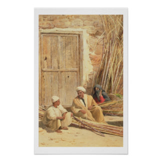 Sellers of Sugar Cane, Egypt, 1892 (oil on canvas) Poster