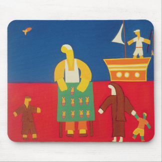 Selling Fish at the Bosphorus 2003 Mouse Mat