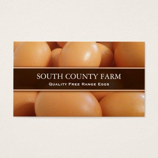 Selling Free Range Eggs Photo - Business Card
