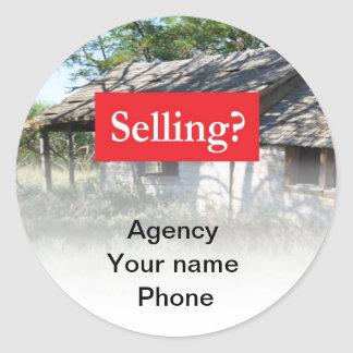 Selling Real Estate Promote Yourself Round Sticker