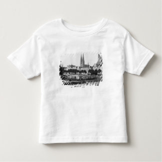 Selling wood on the River Trave, Lubeck, c.1910 Toddler T-Shirt