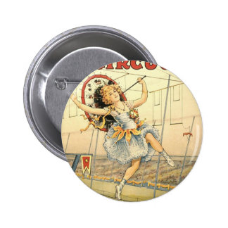 Sells Floto circus M'lle Beeson 6 Cm Round Badge
