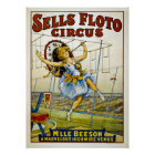 Sells Floto Circus - M'lle Beeson- High Wire Venus Poster