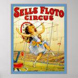 Sells Floto Circus ~ Vintage Circus Print