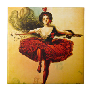 Sells Floto Wire Dancer Circus Princess Victoria Small Square Tile