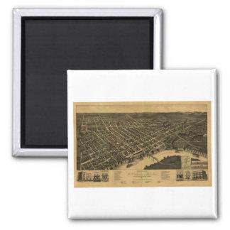 Selma Alabama in 1887 Square Magnet