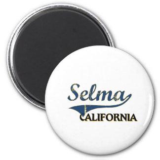 Selma California City Classic 6 Cm Round Magnet