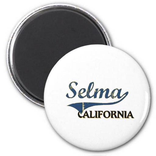 Selma California City Classic Refrigerator Magnet