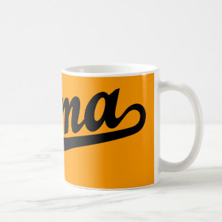 Selma script logo in black basic white mug