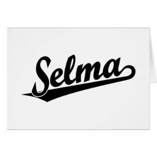 Selma script logo in black greeting card