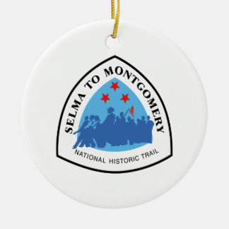 Selma to Montgomery Trail Sign, Alabama Christmas Ornament