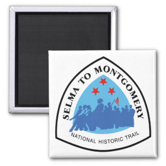 Selma to Montgomery Trail Sign, Alabama Square Magnet