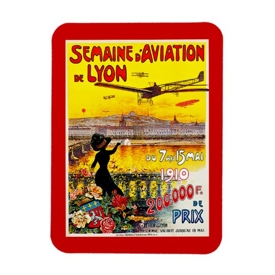 Semaine d'Aviation de Lyon Rectangular Photo Magnet
