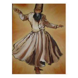 Semasen - Sufi Whirling Dervish Postcard