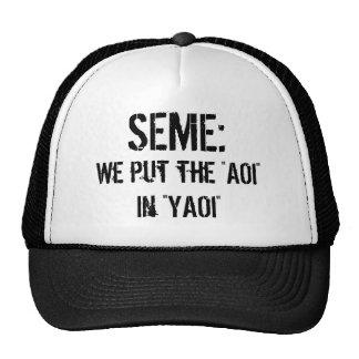 Seme : We put the AOI in YAOI Cap