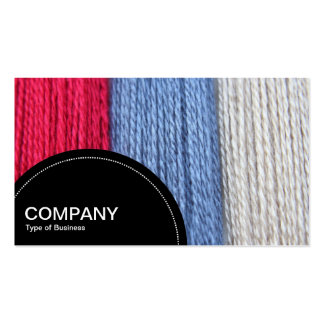 Semi-circle Panel (dots) - Darning Thread Pack Of Standard Business Cards