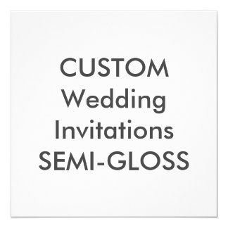 """SEMI-GLOSS 110lb 5.25"""" Square Wedding Invitations"""