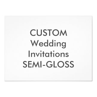"SEMI-GLOSS 110lb 8.75"" x 6.5"" Wedding Invitations"