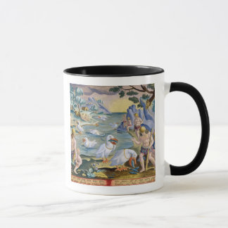 Semi-Naked Savages of India Using Pelicans to Catc Mug