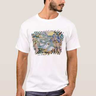 Semi-Naked Savages of India Using Pelicans to Catc T-Shirt