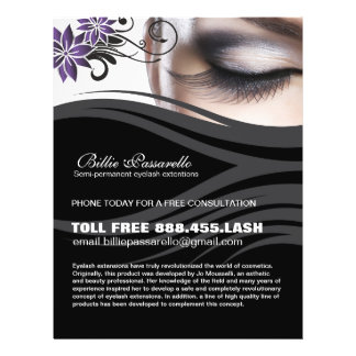 Semi-permanent eyelash extension flyer