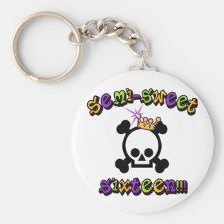 Semi Sweet Sixteen Basic Round Button Key Ring