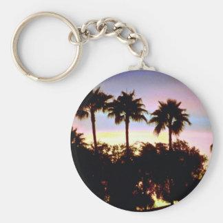 Semi-tropical sunset key chain
