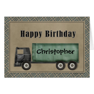 Semi Truck Birthday Card