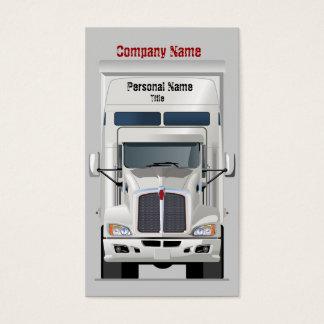 Semi Truck Business Profile Card