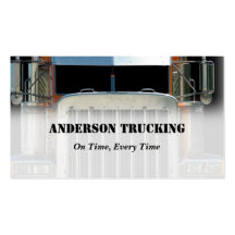 Semi Truck Freight Delivery  Business Card
