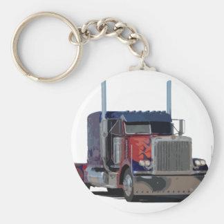 Semi truck keychain