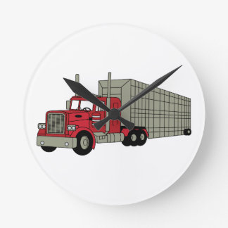 Semi Truck Round Clock